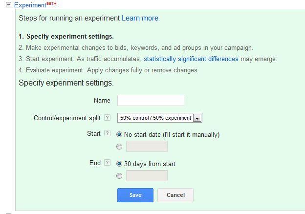 تنظیمات آزمایش در تبلیغات گوگل ادوردز انطباق کلیدواژه