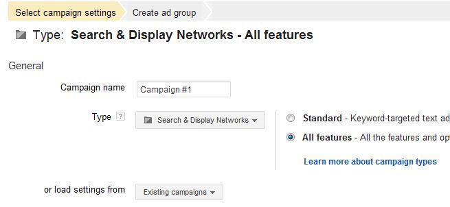کپی کردن تنظیمات کمپین جدید از روی یک کمپین موجود