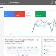 واسط کاربری حساب تبلیغات در گوگل ادوردز