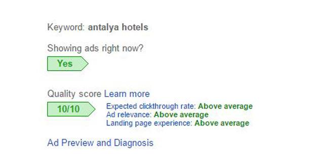 پیدا کردن امتیاز کیفی تبلیغات در حساب کاربری گوگل ادوردز
