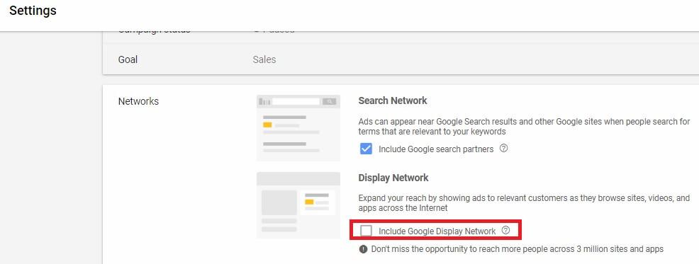 انتخاب شبکه های تبلیغاتی گوگل