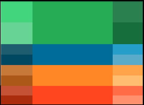 استفاده از رنگهای مکمل در صفحه فرود