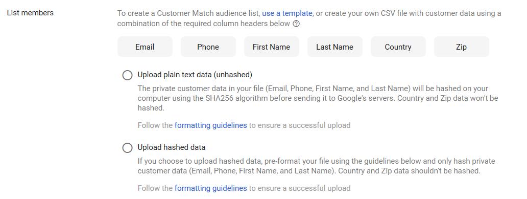 اطلاعات بیشتر برای یافتن کاربران تغییرات گوگل ادوردز