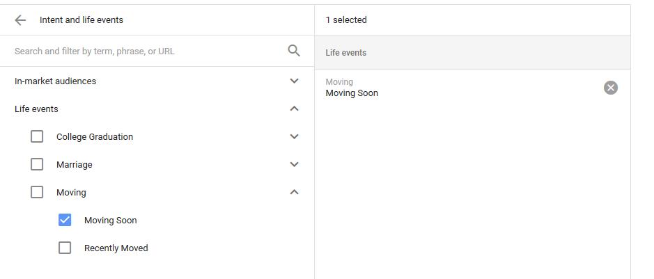 هدفگیری بر اساس وقایع زندگی تغییرات گوگل ادوردز