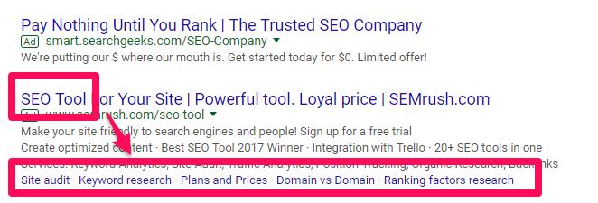 نمونهی یک تبلیغ صحیح از SEMRush