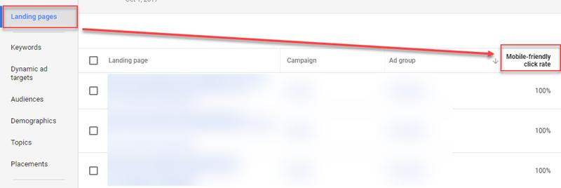 نرخ کلیک بهینه در موبایل در حساب گوگل ادوردز