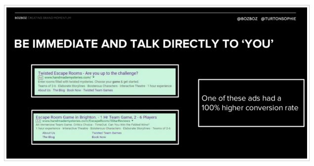 اشاره به مخاطب در متن آگهی