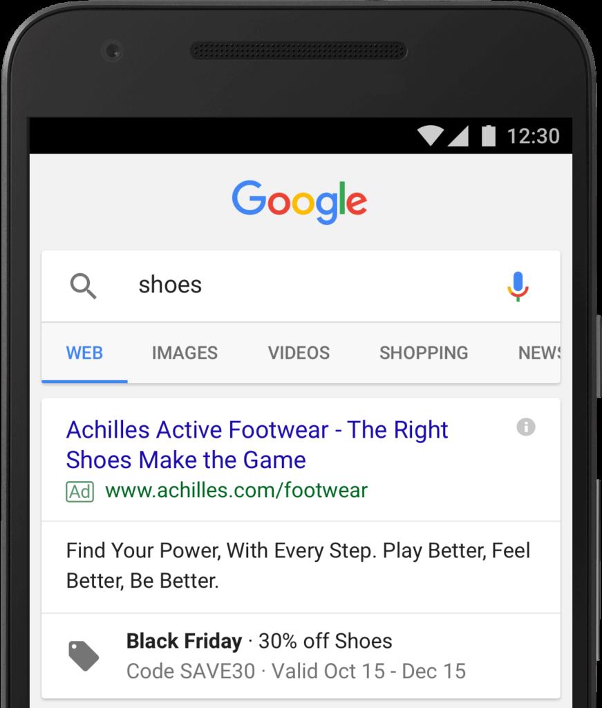 افزونه پروموشن در گوگل ادوردز