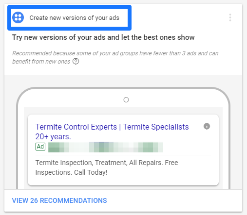 قابلیت جدید ad suggestions یا پیشنهاد آگهی