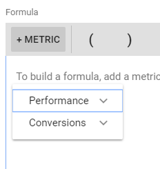 performance or conversion